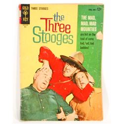 VINTAGE 1964 THE THREE STOOGES COMIC BOOK - 12 CENT COVER