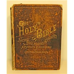 "1893 "" THE HOLY BIBLE "" LARGE HARDCOVER BOOK"