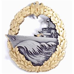 GERMAN NAZI NAVAL DESTROYER BADGE