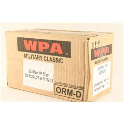Case of .223 Rem HP Ammo
