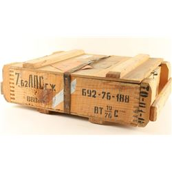 Unopened Crate of 7.62 x 54R Ammo
