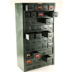 50 Drawer Hobart Vintage Metal Cabinet