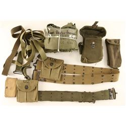 Lot of Military Belts and Bandelier's
