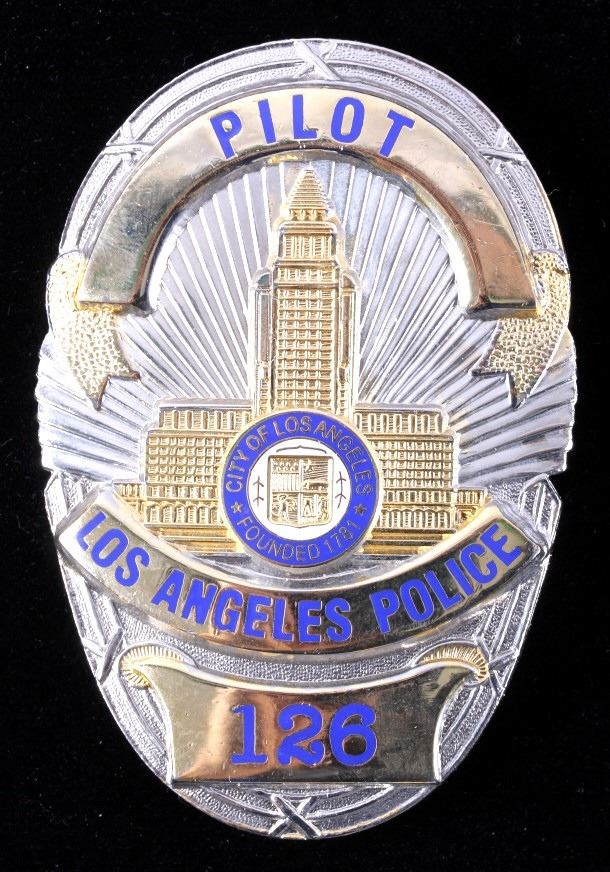 Lapd Los Angeles Police Department Pilot Badge