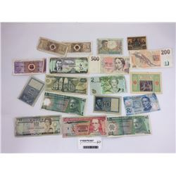 Group of World Banknotes Including Fiji