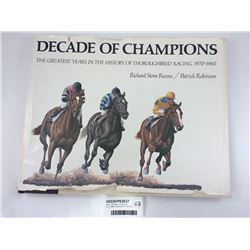 Book - Decade of Champions 1970-1980 R Reeves