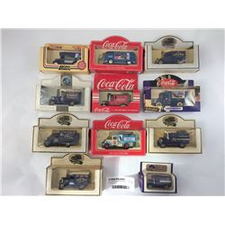 Group of Boxed Die Cast Vehicles Inc. Coca Cola