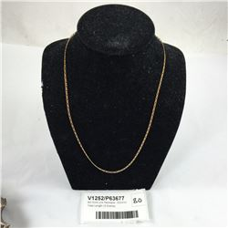 9ct Gold Link Necklace - 500mm Total Length (3 Grams)