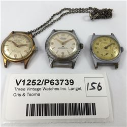 Three Vintage Watches Inc. Langel, Oris & Tsoma