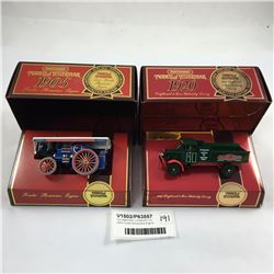 Two Matchbox  Limited Ed. Inc. 1905 Fowler Showmans Engine
