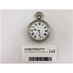 Early Pocket Watch with Sweep Dial