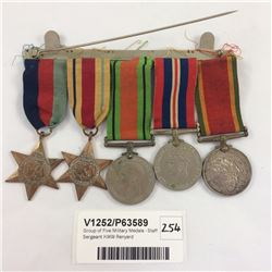 Group of Five Military Medals - Staff Sergeant KWW Renyard