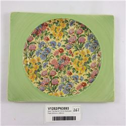 Early 'The Biarritz' Chintz Scalloped Plate 220mm x 190mm