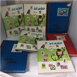 Group of Seven Large Stamp Albums with Stamps