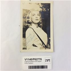 Original Lizabeth Scott Signed Photo Postcard