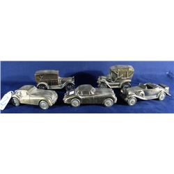 GROUP OF 5 BANTHRICO METAL CAR BANKS
