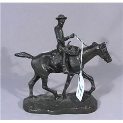 BRONZE SCULPTURE OF WILL ROGERS