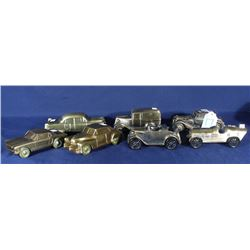 SEVEN VINTAGE BANTHRICO METAL CAR BANKS