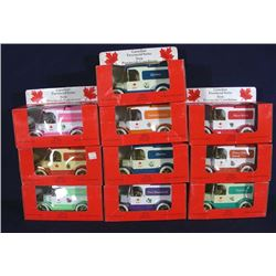 TEN VINTAGE ERTL CANADIAN 1913 MODEL T BANKS