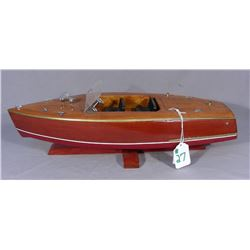 CUSTOM MADE WOODEN CHRIS CRAFT MODEL BOAT