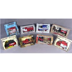 EIGHT VINTAGE ERTL TRUE VALUE BANKS