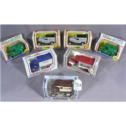 SEVEN ERTL ADVERTISING TRUCK BANKS