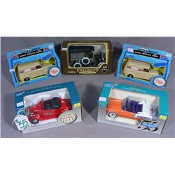 FIVE VINTAGE ERTL & LIBERTY CHEVY TRUCK BANKS