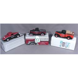 THREE JC PENNY DIE CAST METAL TRUCK BANKS