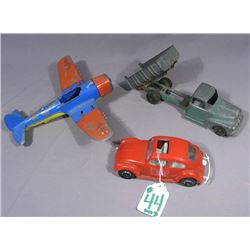 THREE HUBLEY VINTAGE METAL TOYS