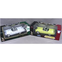 TWO ROAD SIGNATURE 1:18 SCALE 1957 FORD THUNDERBIRDS