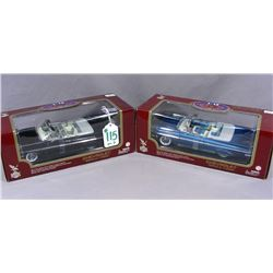TWO ROAD LEGENDS 1:18 SCALE 1959 CHEVROLET IMPALA CARS