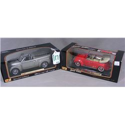 TWO MAISTO 1:18 SCALE SPECIAL EDITION CARS