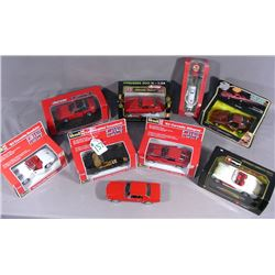 GROUP OF EIGHT DIE CAST METAL 1:24 SCALE SPORTS CARS