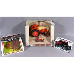 """GROUP OF THREE ERTL """"CASE"""" TRACTORS AND PLOW"""