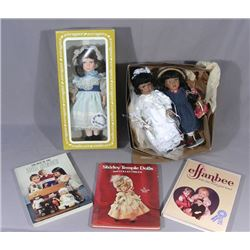 VINTAGE EFFANBEE DOLL, BOOK AND 2 AMERICAN PORCELAIN