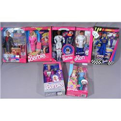 GROUP OF VINTAGE MATTEL CAREER BARBIES
