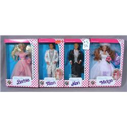 FOUR VINTAGE MATTEL WEDDING DAY DOLLS