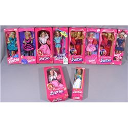 GROUP OF TEN VINTAGE MATTEL BARBIES