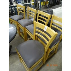 5 Pine Padded Bar Stools - 5 Times the Money