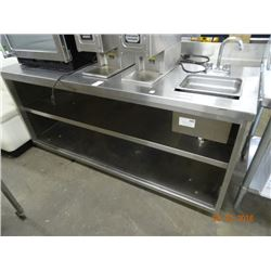 6' S/S Table w/Sink & Undershelf