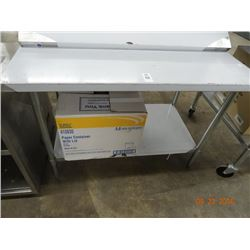 4' S/S Table w/Undershelf