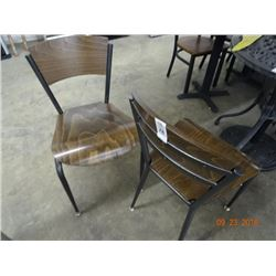 2 Oak Style Wood Chairs - 2 Times the Money
