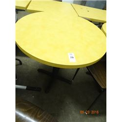 4 Round Top Tables - 4 Times the Money