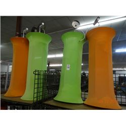 Orange & Green Lamps (4)