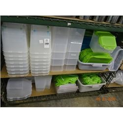 Lot of Lidded Plastic Containers