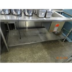 5' S/S Table w/Heat & Undershelf