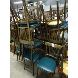 21 Wood Back Padded Chairs - 21 Times the Money