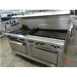 Garland Gas 6-Burner Range/3' Flat Grill/Double Oven
