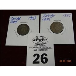 1903 & 1887 Indian Cent - 2 Times the Money