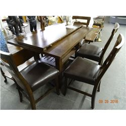 Dark Brown Hightop Table w/4 Chairs
